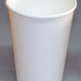 Картонени чаши за студени напитки - Бели
