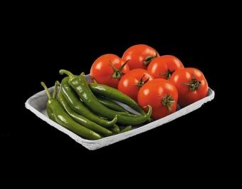 Картоненан тарелка за плодове и зеленчуци