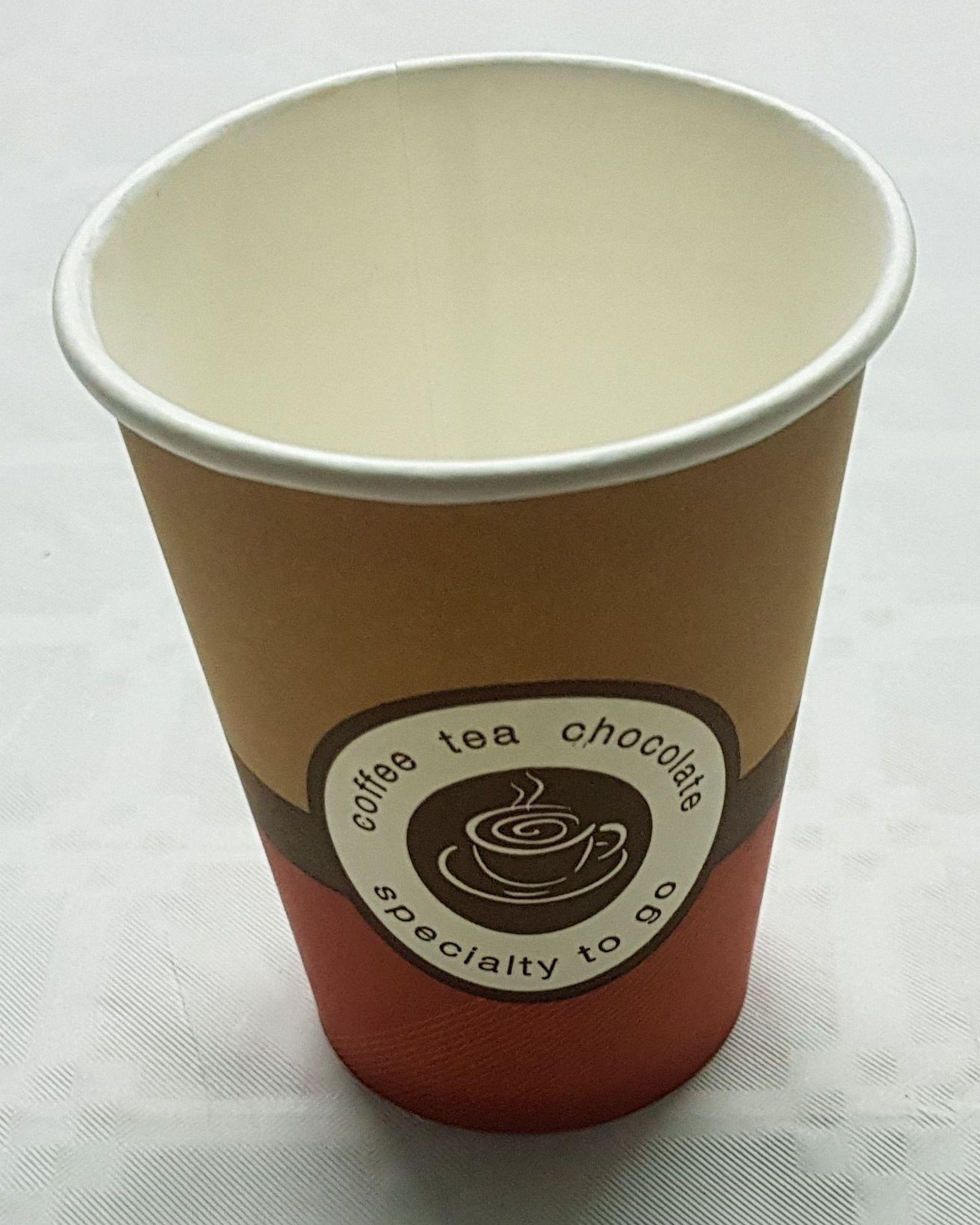 Еднослойни картонени чаши за топли напитки