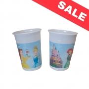 Пластмасови чаши Princess Heart Strong-  8бр - 200мл.