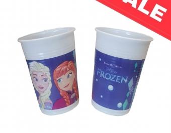 Пластмасови чаши Frozen Snowflakes - 8 бр - 200мл.