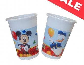 Пластмасови чаши Playful Mickey - 8бр.- 200мл.