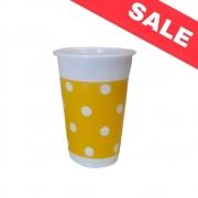 Пластмасови чаши Yellow Dots - 8бр. - 200мл.