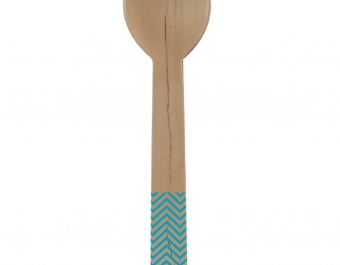 wooden spoon - blue