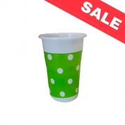Пластмасови чаши Green Dots- 8бр. - 200мл.