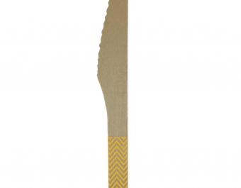 дървени ножове - жълти