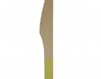 дървени ножове - зелени