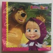 Салфетки Маша и мечокът - 20 бр.
