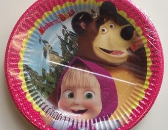 Чинии Маша и мечокът - 8 бр.