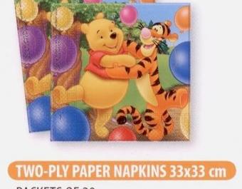 Napkins Winnie Alphabet - 8 бр.