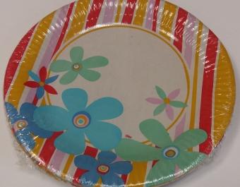 Paper Plates 70's - 10 pcs.
